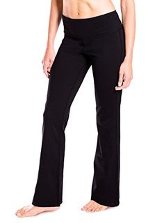 Details about  /Womens High Waist Yoga Pants Bootcut Gym Sport Leggings Flare Wide Leg Trousers
