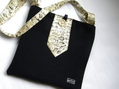 using old ties  -Recycled Suit and Fish Tie Messenger Bag