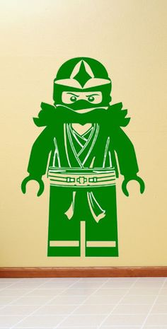 Lego Ninjago Green Ninja Llyod  Minifigure Vinyl Wall Decal Sticker. $29.99, via Etsy.