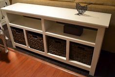 """Thinking about building something similar for a """"cubbie & basket"""" area in my front closet!! ~sb"""