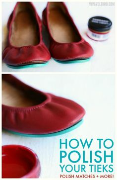 I love Tieks ballet flats and I'm sharing one of my tips to help them looking good - adding a little bit of moleksin to prevent toe bump and leather wear. *** Read more info by clicking the link on the image. Tieks Ballet Flats, Tieks Shoes, Leather Ballet Flats, Leather Shoes, Soft Leather, Leather Bags, Ballet Shoes, Black Leather, Tieks By Gavrieli