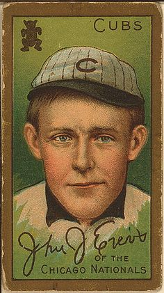 John J. Evers, Chicago Cubs, baseball card portrait (LOC) by The Library of Congress, via Flickr