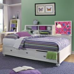 Fantasy Full Day Bed with Trundle Full daybed Daybed and
