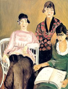 'The Three Sisters,' Resides In the Musée de l'Orangerie, Paris, Painted By Henri Matisse, 1916.
