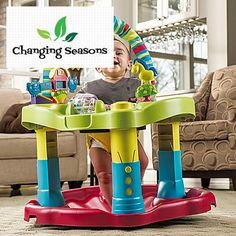 Baby Bouncing Activity Center Learn Play Physical Exercise Adjustable Height #Evenflo
