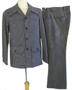 Best 1970s Vintage Leisure Suit  	$60.00