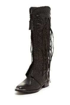 If these didn't have fringe I'd consider them... Sam Edelman Palermo Fringe Tall Boot by Shoe Suite on @HauteLook