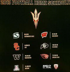 2013 ASU Football Schedule.