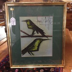 Crow Lithograph Contemporary Artwork, Vintage Prints, Crow, Original Paintings, Mid Century, Frame, Squad, Home Decor, Picture Frame