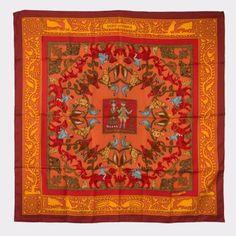 HERMES Silk Scarf 90 x90 cm