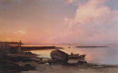 Fishermen on the Volga - Aleksey Savrasov