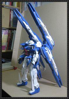 GN-XXX Gundam Rasiel Free Paper Model Download - http://www.papercraftsquare.com/gn-xxx-gundam-rasiel-free-paper-model-download.html