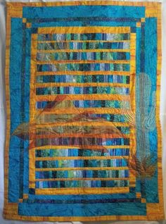 The colors in this quilt are awesome | Arizona On My Mind - an Art Quilt to Warm You by JustHatchedProductions @ArtFire