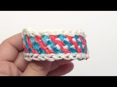 Rainbow Loom INTERWEAVED LOCK Bracelet (2 Looms). Designed and loomed by Mario at OfficiallyLoomed. Click photo for YouTube tutorial. 02/05/14.