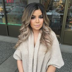 Perfect hair blend. balayage | light blonde | ombre | ash | dark roots |