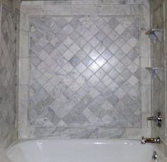 wainscoting and carrara marble small bathroom pictures - Google Search