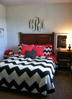 red and gray bedroom | went with a black and red colour scheme as ...