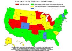 2014 Us Map Showing Each State S Stance On Using Gas Chambers To Murder Innocent Dogs Cats 3 Yellow States Used The Gas Chamber Between 11 14 And 2 15