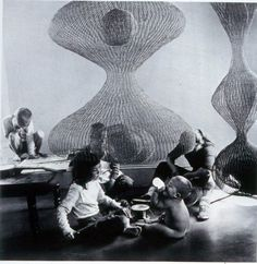 Ruth Asawa, Illustration, Sculpture Nodes, black mountain college, connections, geometric, simplicity