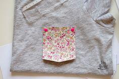 T-shirt customisé tissu thermocollant liberty par Fête-unique