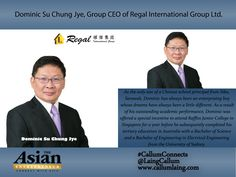 Dominic Su Chung Jye, Group CEO of Regal International Group Ltd.