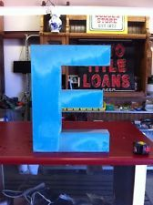 """Vintage Metal Wall Letter """"E"""". Cool Industrial Blue Color And Font! Letter E, Letter Wall, Metal Wall Letters, Vintage Metal, Arcade, Beer, Cool Stuff, Industrial, Color"""
