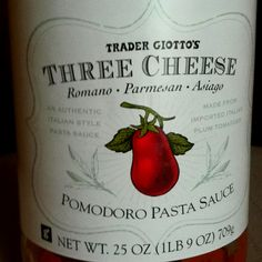 Pomodoro pasta sauce from Trader Joe's - yummy!
