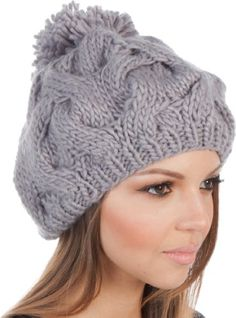 Cheap hat beanie, Buy Quality slouch hat directly from China slouch beanie Suppliers: BomHCS Sakkas Cable Knit Pom Pom Thick Slouch Hat Beanie Crochet Cap, Stylish Hats, Knitted Hats, Slouch Hats, Warm Outfits, Winter Accessories, Cable Knit, Beanies, Fashion Brands