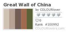 Color Inspiration:  New Seven Wonders of the World ~ http://clrlv.rs/aKI0z3