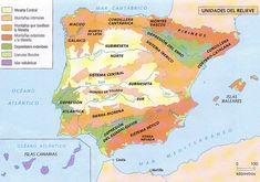 ¿ Sabes las principales montañas de España? Mapa interactivo con el que recorrer el #relieve de España. Cello Sheet Music, Spanish Culture, World Languages, Spanish Class, Social Studies, Geography, Art Projects, Spain, Classroom