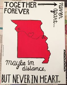 Together Forever Never Apart Canvas by CollegiateCrafts101 on Etsy