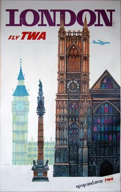 david-klein-1918-2005-an-original-twa-london-travel-poster-1960s David Klein (1918-2005): An original TWA London travel poster, 1960s, colour lithography, conservation linen-backed, larger format, 25x40 inches (1015x635mm) David Klein (1918-2005) was a commercial artist, who produced some of the most iconic poster designs of the mid 20th century. His illustrations produced to promote Howard Hughes's Trans World Airlines (TWA), in particular those for New York and San Francisco are the most…