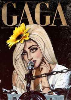 """Lady Gaga"" Art by Helen Green✏ #Celebrity #Celebrities #FanArt"