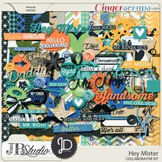 Hey Mister Collab by JB Studio and Juno Designs!  Grab this fabulous kit while it's 30% off through Thursday, December 18th! #digiscrap #jbdesigns