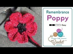How to Crochet a Flower: Remembrance Poppy - YouTube