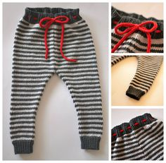 Hand Knitted Pippi Pants for 6M up to 12M Baby