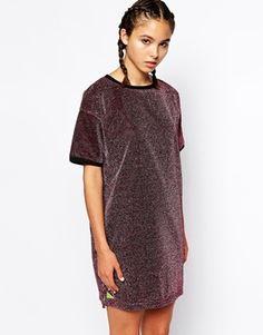 Pippa Lynn T-Shirt Dress in Metallic