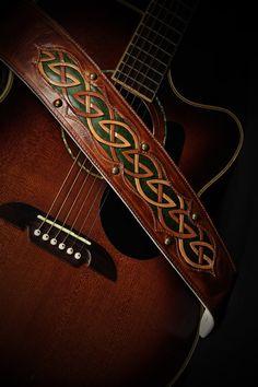 Guitar Strap, brown leather guitar strap: Autumn Dara Guitar Strap on Etsy, £180.03