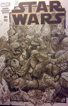Star Wars - Boba Fett vs. Wookie by Nick Bradshaw *