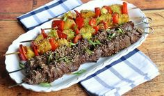 Head to the grill for these beef skewers from StarTribune.com! Tip: use Maruhon Toasted sesame oil for the Honey Sesame Teriyaki Sauce and use Maruhon Untoasted sesame oil in place of the vegetable oil.  #honey #sesame #teriyaki #beef #kabobs #sesameoil #Maruhon Teriyaki Beef, Teriyaki Sauce, Toasted Sesame Oil Recipe, Japanese Teriyaki, Sauce Recipes, Cooking Recipes, Beef Skewers, Steak Tips, Grilled Beef