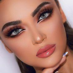 Glamour Makeup Looks, Makeup Eye Looks, Bridal Makeup Looks, Cute Makeup, Glam Makeup, Eyeshadow Makeup, Makeup Inspo, Makeup Art, Wedding Makeup