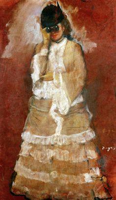 Woman with Field Glasses 1875 - Edgar Degas Reproduction Oil Painting Edgar Degas, Mary Cassatt, Charles Angrand, Georges Seurat, Degas Paintings, Art Ancien, Manet, Impressionist Artists, Paul Cezanne