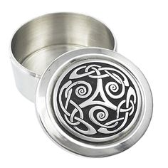Box decorated on the lid with a Celtic Triskele