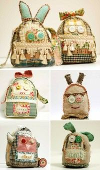 Ha! How fun ( and slightly creepy ) are these hand made bags!!