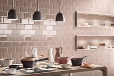 Cooperativa Ceramica Imola produces floor and wall coverings in porcelain stoneware suitable for both interior and exterior for residential and commercial Beveled Subway Tile, Subway Tiles, Pink Tiles, Italian Tiles, Metro Tiles, Ceramic Wall Tiles, Wall And Floor Tiles, Stone Tiles, Kitchen Tiles