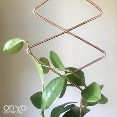 Plant Trellis, Wire Trellis, Hammered Copper, Copper Wire, Gold Planter, Hoya Plants, Plant Labels, Plant Supports, Plant Markers
