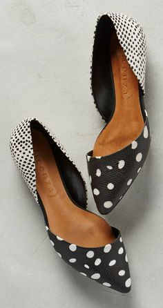 So cute!  Love the cut, the subtle pointy toe and the mix of patterns (of course)
