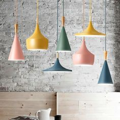 Modern Nordic Pendant Light Iron Lampshade Wood LED Hanging Lamp for Dining Room Hotel Bedroom Kitchen Lighting Fixtures Led Ceiling Lights, Ceiling Lamp, Hanging Lights, Wall Lights, Bedroom Ceiling, Countertop Concrete, Luminaire Led, Light Installation, Kitchen Lighting