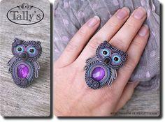Soutache Owl Ring!
