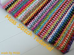 made by Mriek: Moss stitch tutorial
